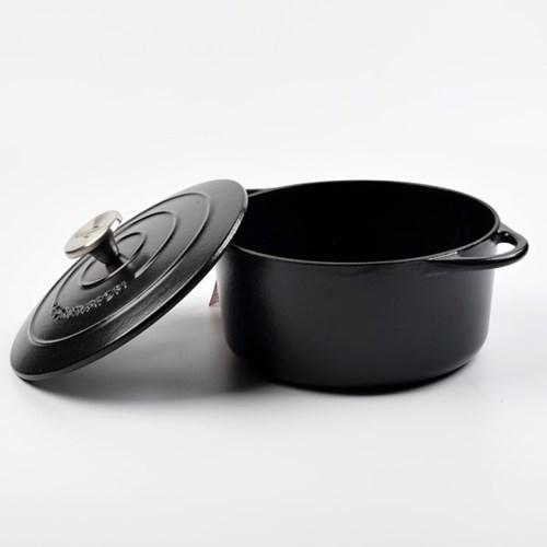 쿠첸프로피 무쇠냄비 22cm 블랙_(302299502)