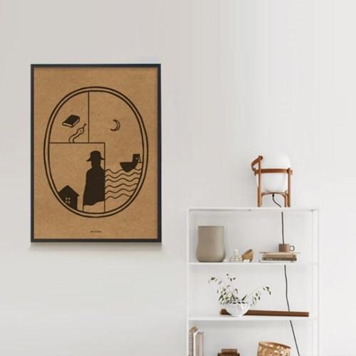 유니크 크라프트 인테리어 디자인 포스터 M 추리소설
