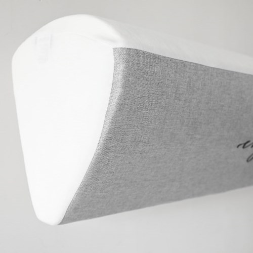 린넨룩 자수 벽걸이 에어컨커버 엔조이-쿨그레이