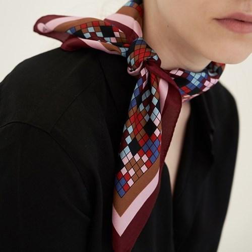 heart rattan silk mini scarf