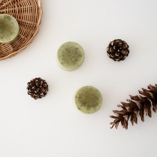 솔잎 약산성 샴푸바 머리비누