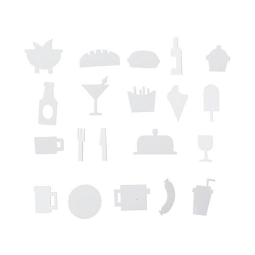 [디자인레터스]음식 아이콘 21pcs(메세지보드 전용)_(840363)