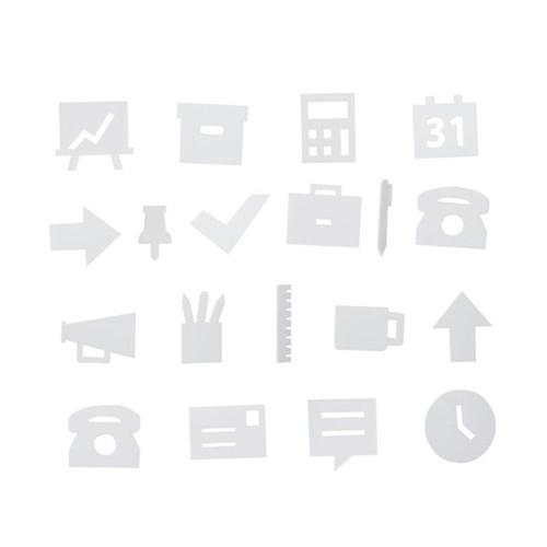 [디자인레터스]오피스 아이콘 20pcs(메세지보드 전용)_(840364)