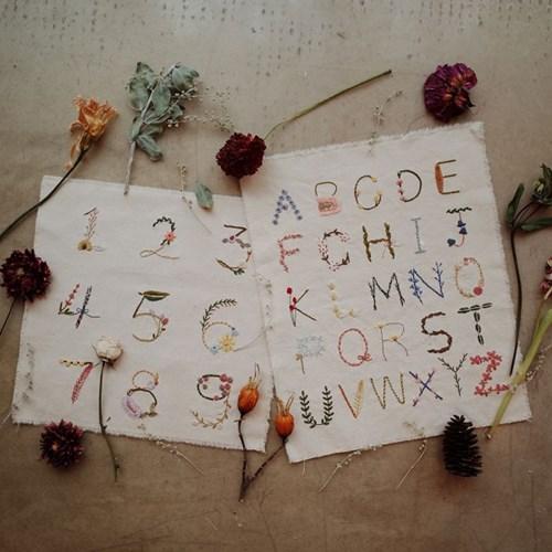 프랑스자수 가랜드 DIY 키트 - 보태니컬 숫자 Botanical number