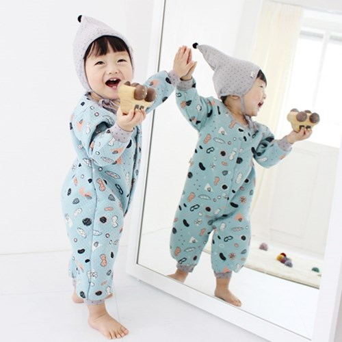 [메르베] 콩콩남아 신생아 우주복/북유럽아기옷_겨울용_(1127745)