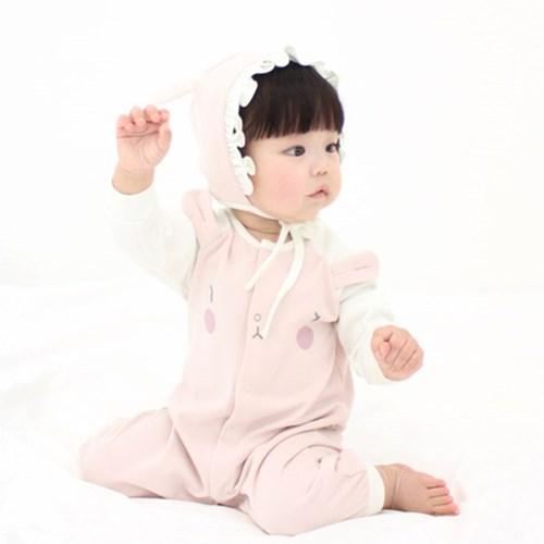 [메르베] 토끼 신생아 우주복/북유럽아기옷_사계절용_(1132915)