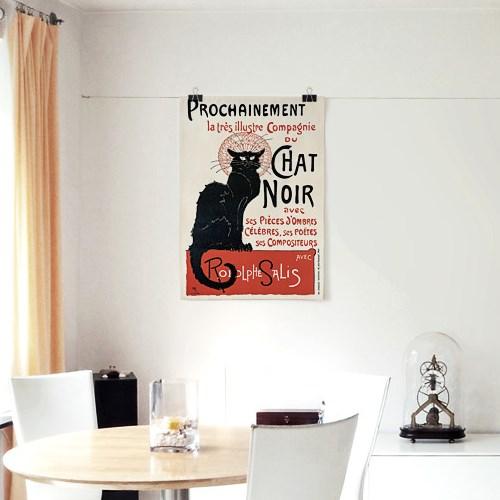 패브릭 포스터 동물 고양이 그림 감성 액자 빈티지 10