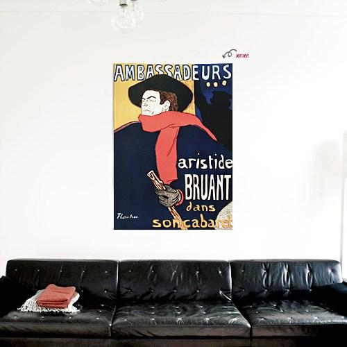 패브릭 포스터 그림 인테리어 카페 액자 빈티지 6