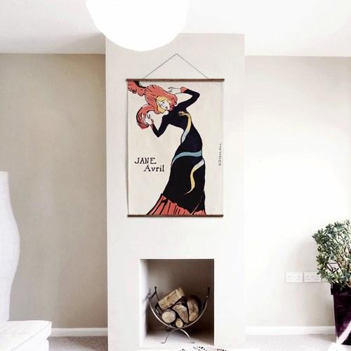패브릭 포스터 그림 벽에거는 천 액자 빈티지 4