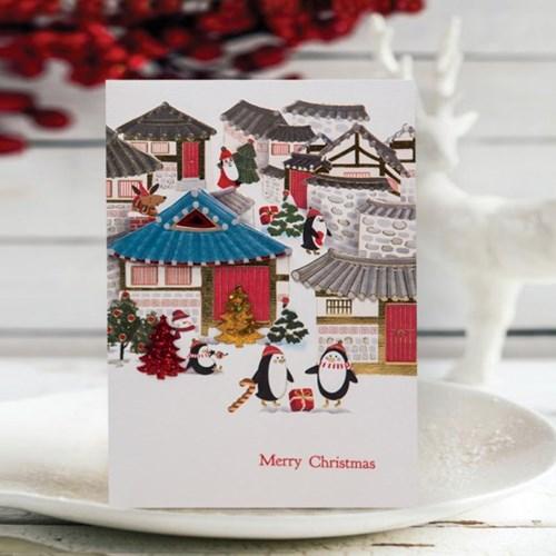 FS1029-3 크리스마스카드,트리,산타,성탄절,미니카드,루돌프