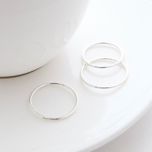 (92.5 silver) skinny band ring