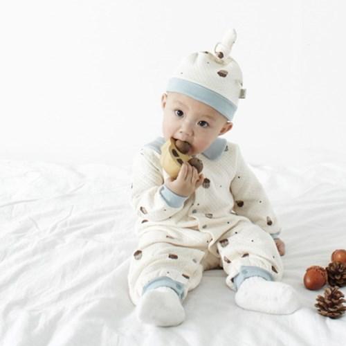 [메르베] 도토리키재기 신생아 우주복/북유럽아기옷_겨_(1144506)