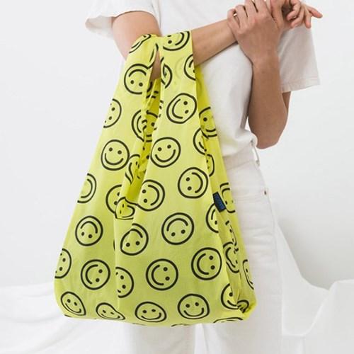 [바쿠백] 스탠다드 에코백 장바구니 Yellow Happy_(1458607)