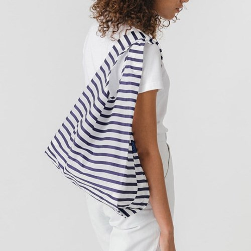 [바쿠백] 스탠다드 에코백 장바구니 Sailor Stripe_(1458602)