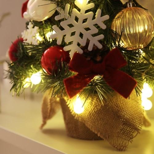 크리스마스 미니트리 풀세트(전구,장식포함)