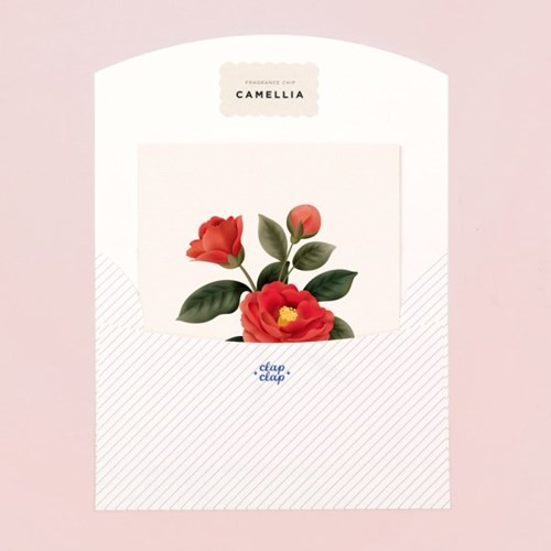 BOTANICAL SCENTED CARD – CAMELLIA