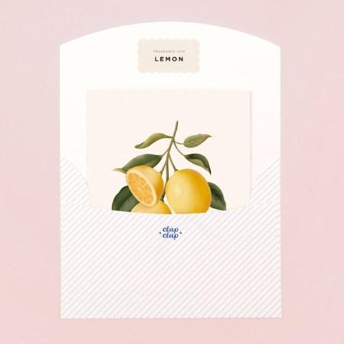 BOTANICAL SCENTED CARD – LEMON