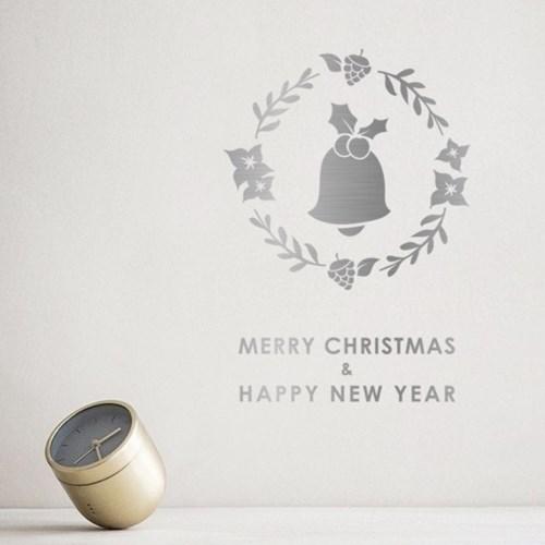크리스마스 리스 스티커 xms012