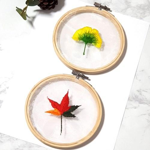 투명 꽃 액자 틀 프랑스자수 패키지 도안 diy 세트 식물 인테리어 r