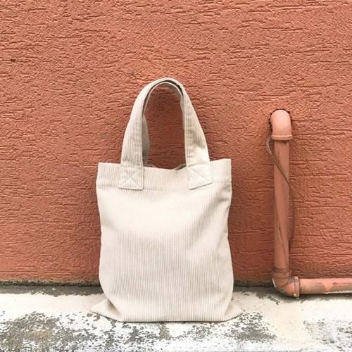 Corduroy Tote Bag (CREAM)