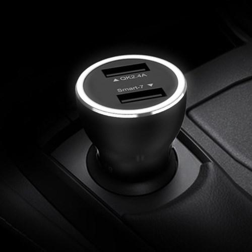 꼬체 풀메탈 LED 차량용 고속 충전기 3.0 2포트