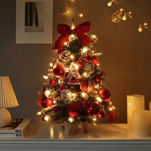 [12월 9일 발송] 눈내린작은집 파인 크리스마스트리 + 전구풀세트