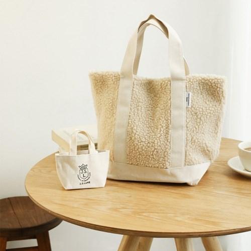 리넨 + Journal standard luxe 양털 토트