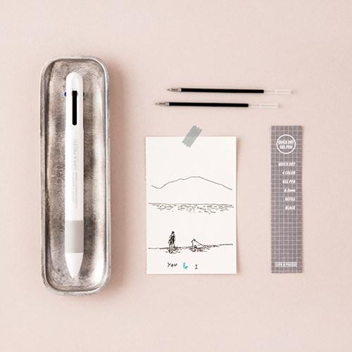 LIFE & PIECES 4색 젤 펜