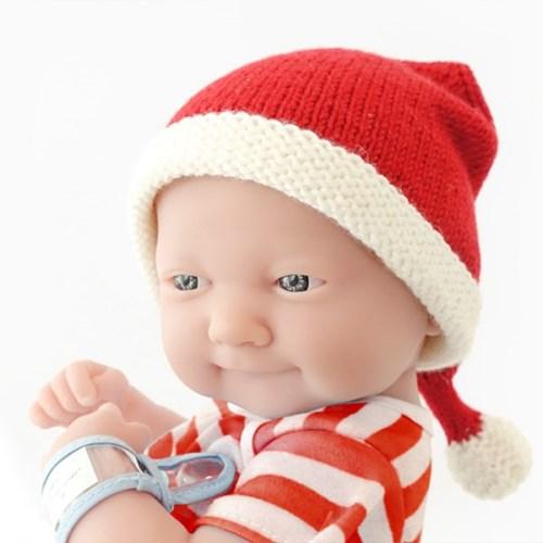 니팅키트- 신생아 산타모자