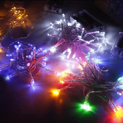 LED 투명선 전구 건전지 밧데리 (12type)_(1417877)