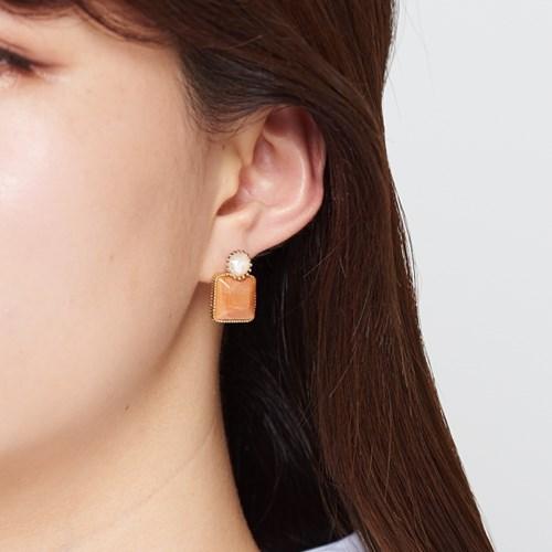 스퀘어 원석 귀걸이