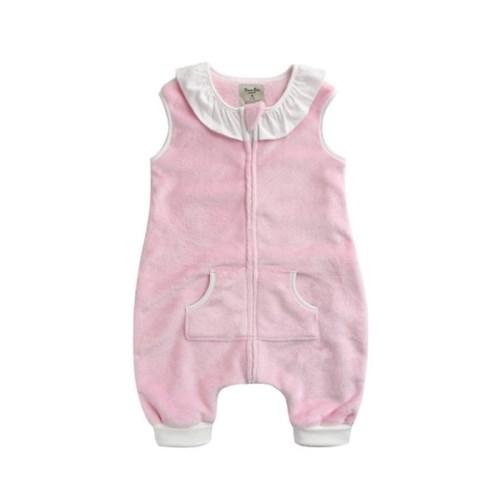 [극세사]핑크프릴 극세사수면조끼 유아수면조끼 아동수면조끼
