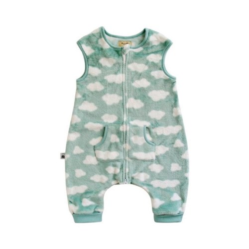 [극세사]구르미(민트)극세사수면조끼 유아수면조끼 아동수면조끼