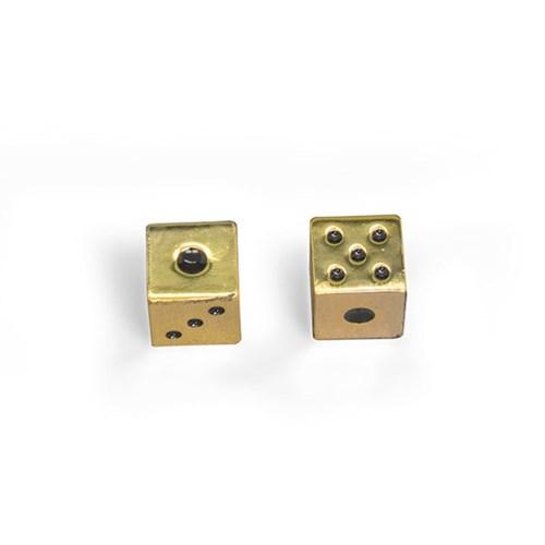 [럭키스] 아연합금 금속 주사위 2P 골드_(1490496)