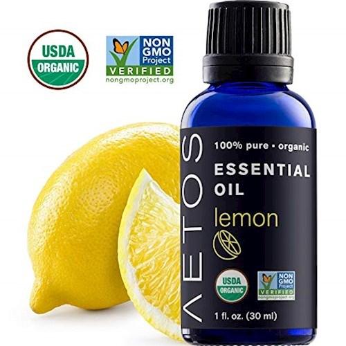 [세븐허브] Aetos 유기농 레몬 에센셜 오일 5+1개