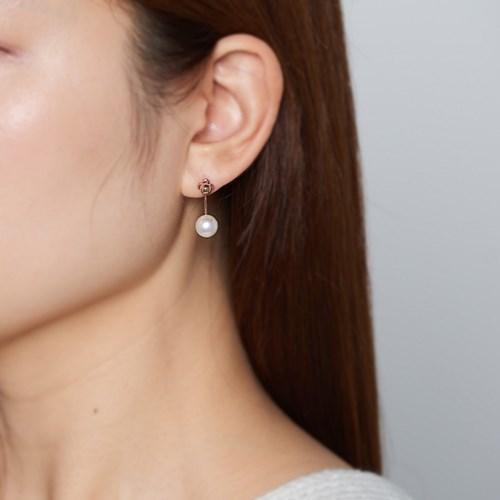 투웨이 로즈 펄 귀걸이