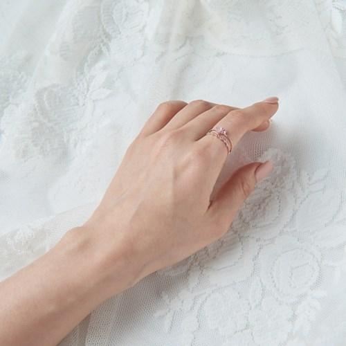 하트 더블라인 반지
