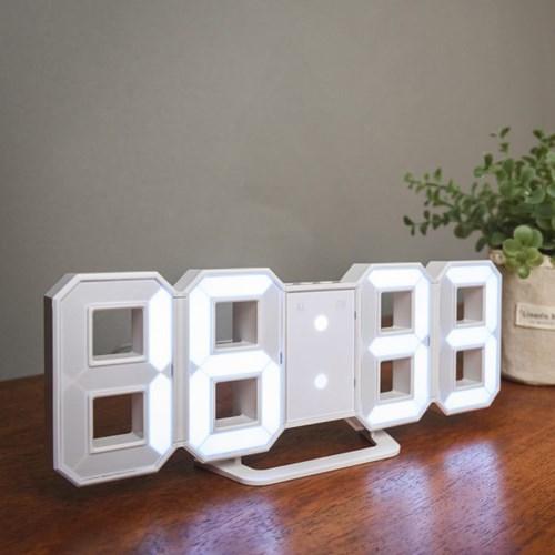 오리엔트 OT1586W 3D입체화이트LED벽탁상겸용시계 화이트 OT1586