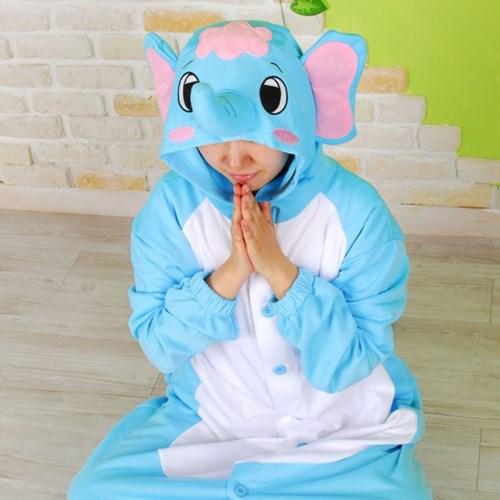 사계절 동물잠옷 코끼리 (블루)