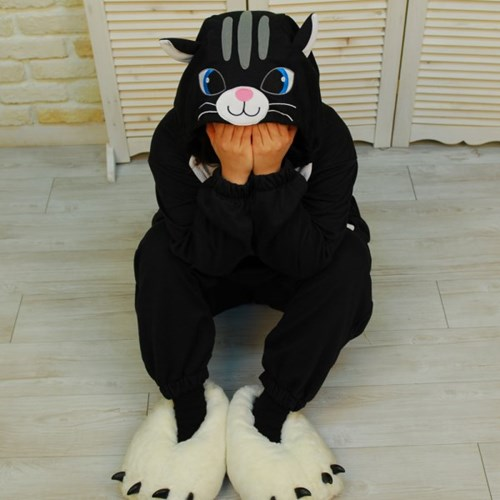 사계절 동물잠옷 고양이 (블랙)