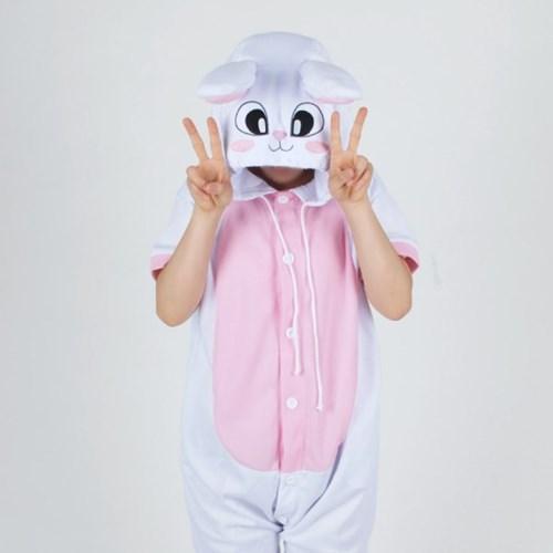 반팔 동물잠옷 토끼 (화이트)