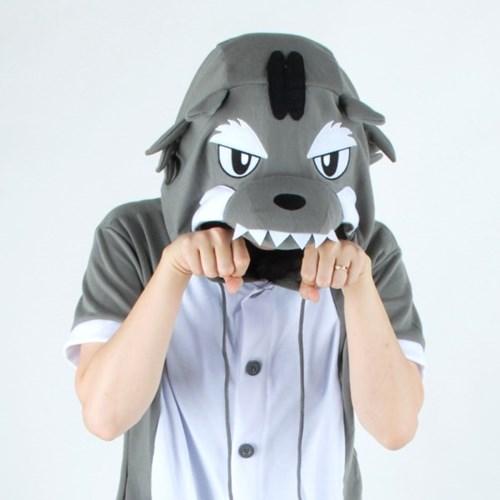 반팔 동물잠옷 늑대 (그레이)