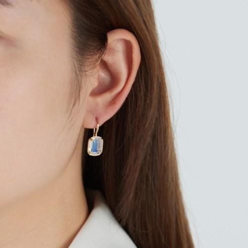 [925실버] 제인 큐빅 드롭 귀걸이