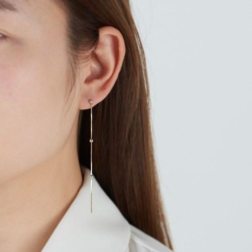 [925실버] 체인 볼 롱 드롭 귀걸이