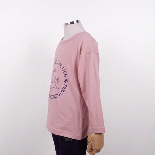[다이노솔즈] 트리케라 산책 드로잉 어린이 순면 티셔츠 PK