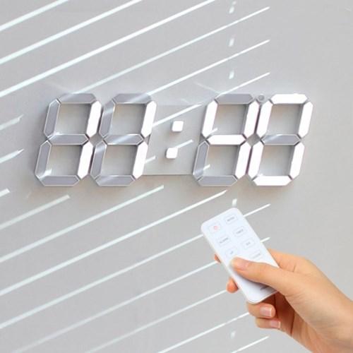 [무아스] 빅플러스 3D LED 벽시계 - 화이트