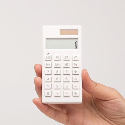 단순생활 미니 전자계산기 화이트