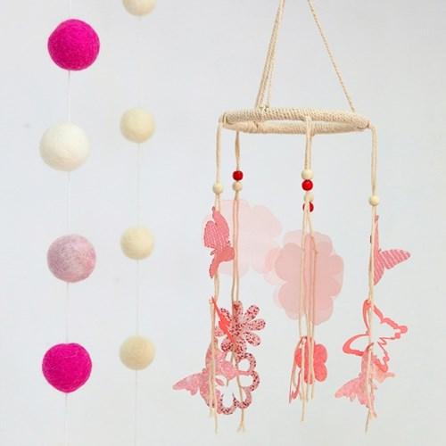[리빙프로젝트] 모빌 _ 핑크