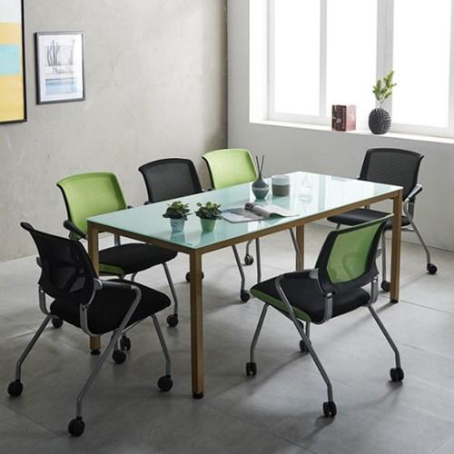 철제 6인용 몬드 1800 사무실 회의용 테이블세트 국산_(2186827)