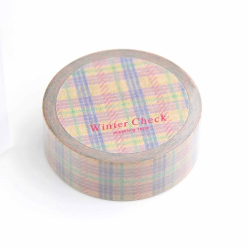 Winter Check Masking Tape